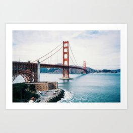 Colors of the Golden Gate Bridge Art Print