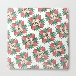 strawberry flower Metal Print