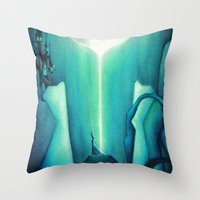 witch Throw Pillows featuring Witch by Annya Kai