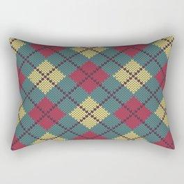 Faux Retro Argyle Knit Rectangular Pillow