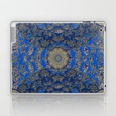 Blue Gold Lacy Mandalas Laptop & iPad Skin