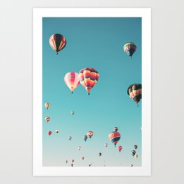 Hot Air Balloon Ride Art Print