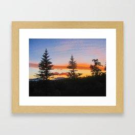 Oregon Sky. Framed Art Print