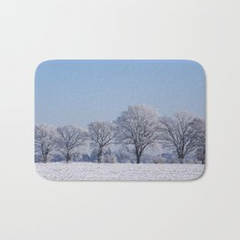 winter walk rural snow landscpape north Germany Bath Mat