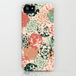 Stamped Succulents iPhone Case