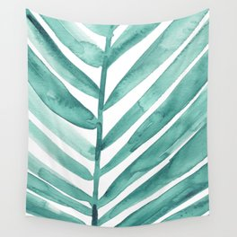 Green Palm Leaf Crop Wall Tapestry