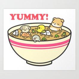 Yummy! Pet Bowl Art Print