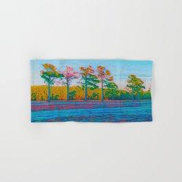 Watercolor Tree Line Tropical Paradise Hand & Bath Towel