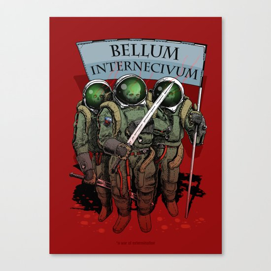 A war of extermination. Special red edition Canvas Print