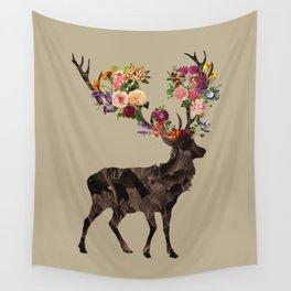 Spring Itself Deer Flower Floral Tshirt Floral Print Gift Wall Tapestry