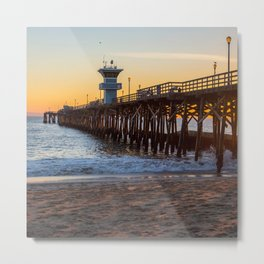 Seal Beach Sunset Metal Print