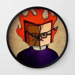 Prophets of Fiction - Ray Bradbury /Fahrenheit 451 Wall Clock