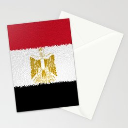 Flag of Egypt - Extruded Stationery Cards