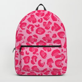 Pink Leopard Pattern Backpack