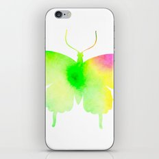 Spring rainbow butterfly iPhone & iPod Skin
