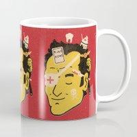 tarantino Mugs featuring Quentin by Derek Eads