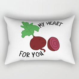 My Heart Beets for You Rectangular Pillow
