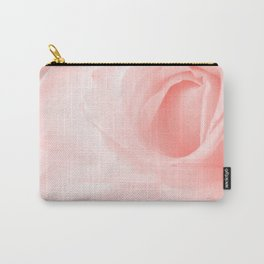 Coral Rose Close-up Carry-All Pouch