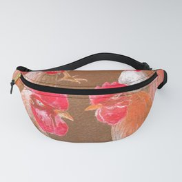 The New Chick On The Block In Red Fanny Pack