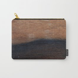 Walnut veneer brown design of wood Carry-All Pouch