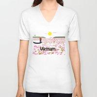 vietnam V-neck T-shirts featuring Vietnam by Design4u Studio