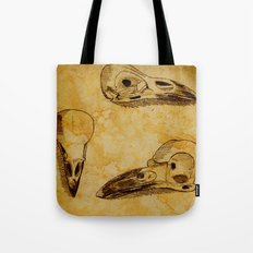 Magpie Bird Skull Drawing Tote Bag