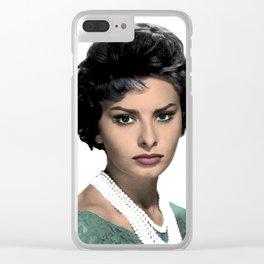 SOPHIA L O R E N Clear iPhone Case