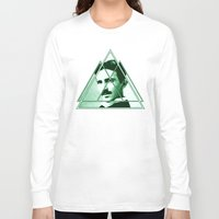 tesla Long Sleeve T-shirts featuring Tri-Tesla by Rad Recorder