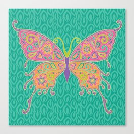 Butterflies Are Free To Fly... Canvas Print