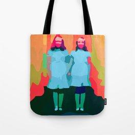 Twin Sisters Tote Bag