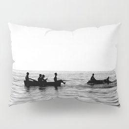 The dinghy and the boat Pillow Sham