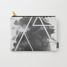 Splashed Triangles Carry-All Pouch