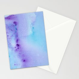 Philip Bowman Abstract Watercolor Art Blue And Purple Modern Painting Stationery Cards