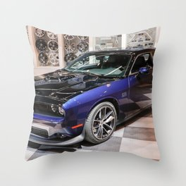 2017 80th Anniversary Two tone Auto Show MOPAR 17 Challenger Throw Pillow