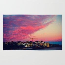 Bondi Beach Australia sunset Rug