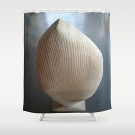 Standing fish of wood Shower Curtain