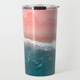 Turquoise Sea Pastel Beach II Travel Mug