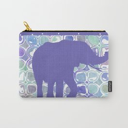Abstract Purple Elephant Carry-All Pouch