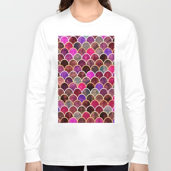 Watercolor Lovely Pattern VVII Long Sleeve T-shirt
