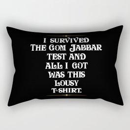 I survived the Gom Jabbar Rectangular Pillow
