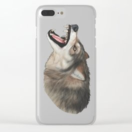 Wolf Chomp Clear iPhone Case