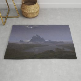 Reefs by the Seashore by Caspar David Friedrich Rug