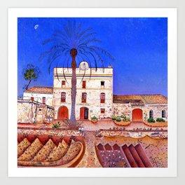 Joan Miro House with Palm Tree Art Print