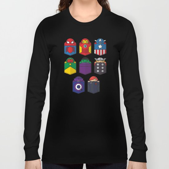 World's mightiest pocket heroes Long Sleeve T-shirt