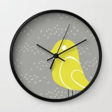 Bird on tussocks Wall Clock