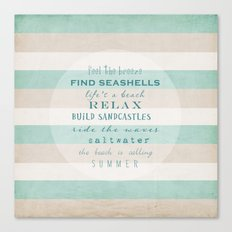 build sandcastles Canvas Print