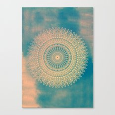 GOLDEN SUN MANDALA Canvas Print