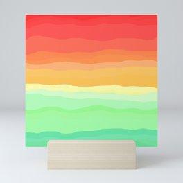 Rainbow - Cherry Red, Orange, Light Green Mini Art Print