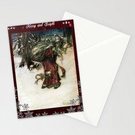 Father Christmas 2, Vintage Arthur Rackham Santa Stationery Cards