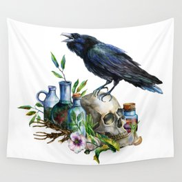 Raven Magick Wall Tapestry